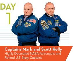 Captains Mark and Scott Kelly
