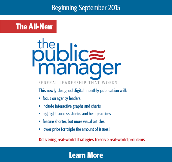 The Public Manager Subscribe