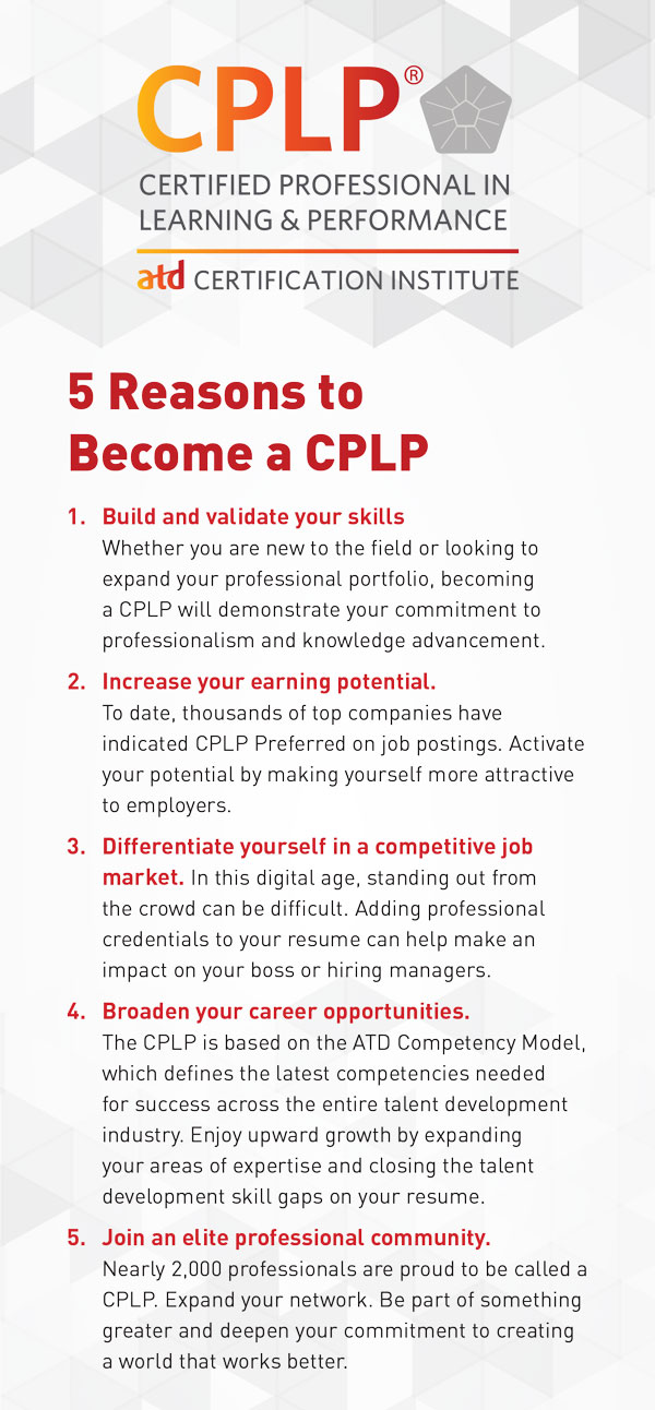 5 Reasons to Become a CPLP